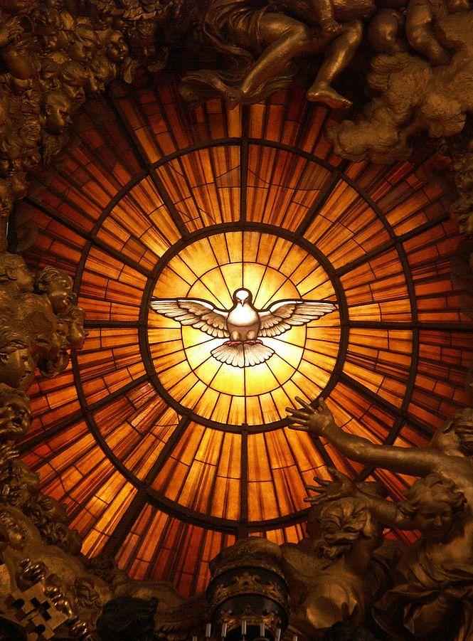 Alegoría del Espíritu Santo en la Basílica de San Pedro, El Vaticano