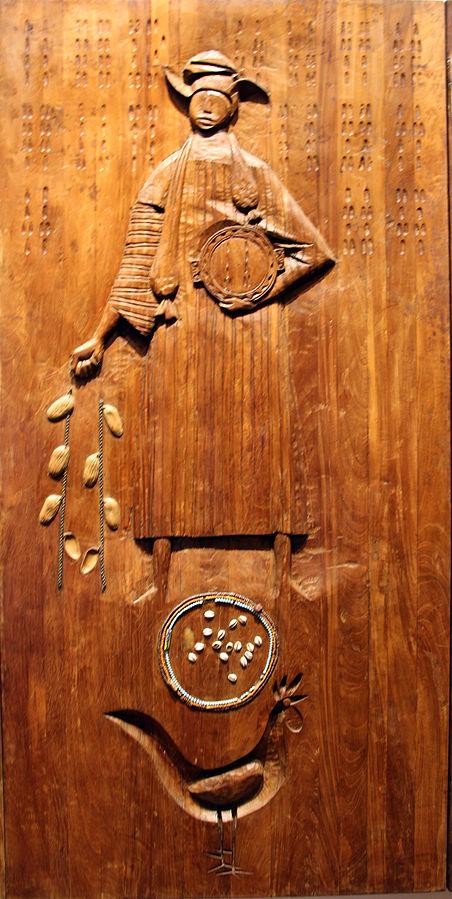 Orunmilá-Ifá - Escultura del Caribe en madera, expuesta en el Museo Afrobrasileño, Salvador, Bahía, Brasil