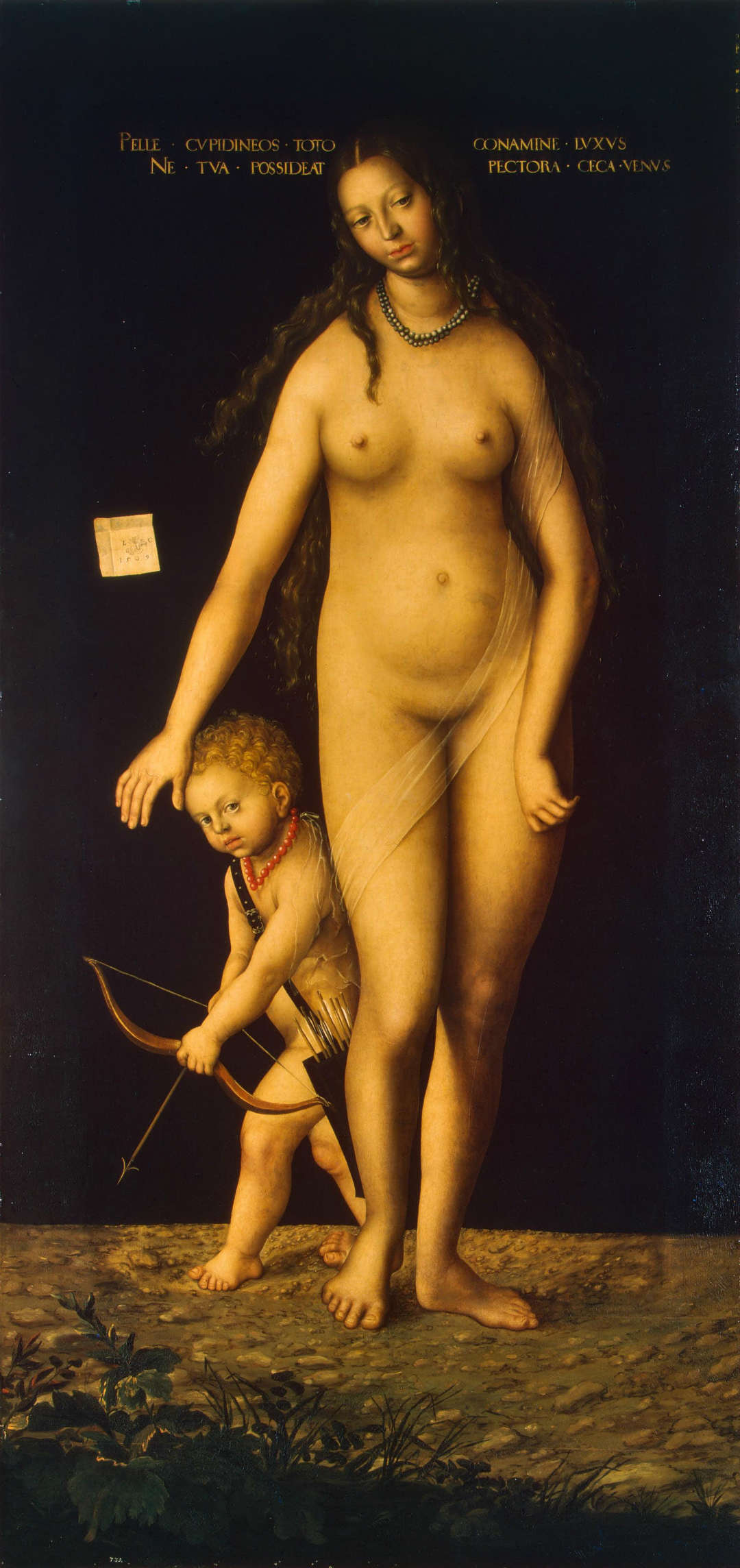 Venus y Cupido (óleo sobre lienzo, 213 x 102 cm) de 1509. Museo del Hermitage, San Petersburgo