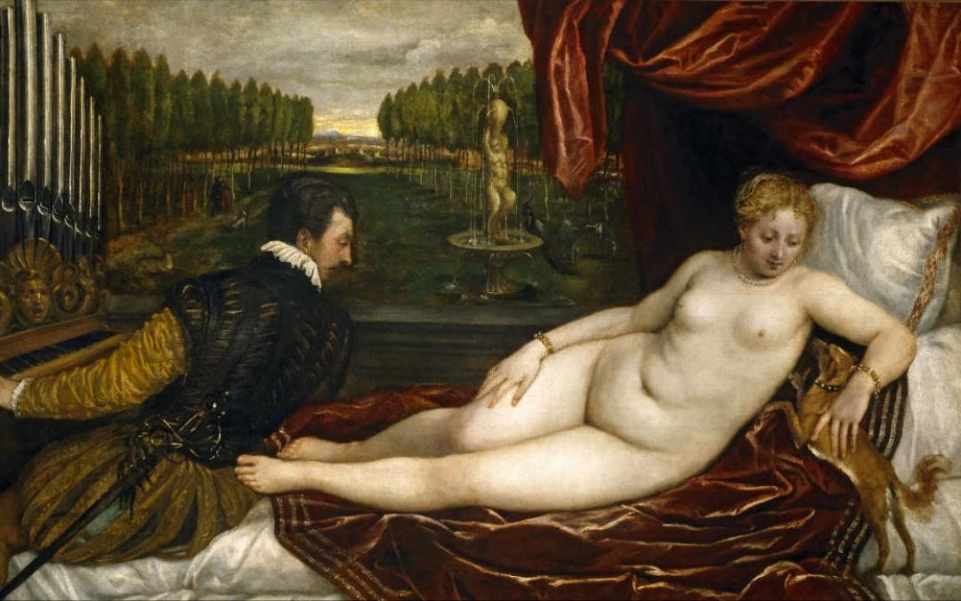 Venus recreándose en la música