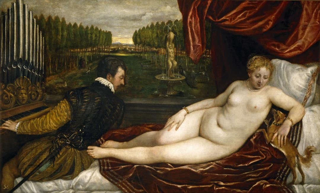 Venus recreándose en la música, de Tiziano